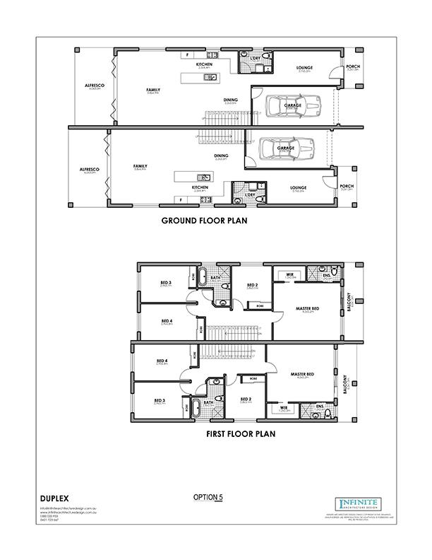 Duplex Floor Plan